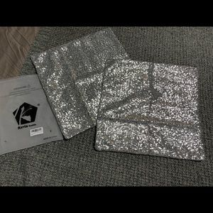 Silver Sequin Cushion Covers